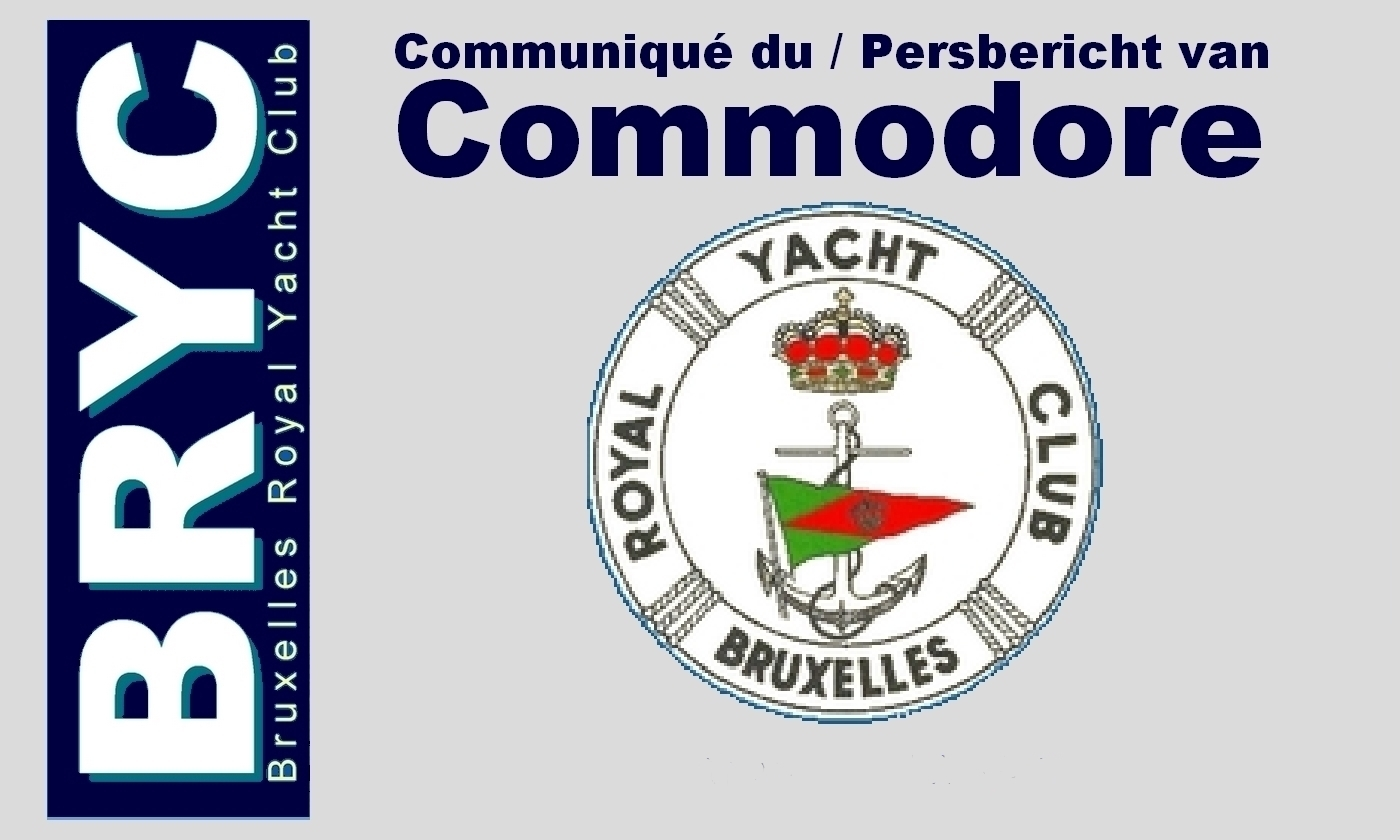 BRYC-Communjique-Commodore Bruxelles Royal Yacht Club - .