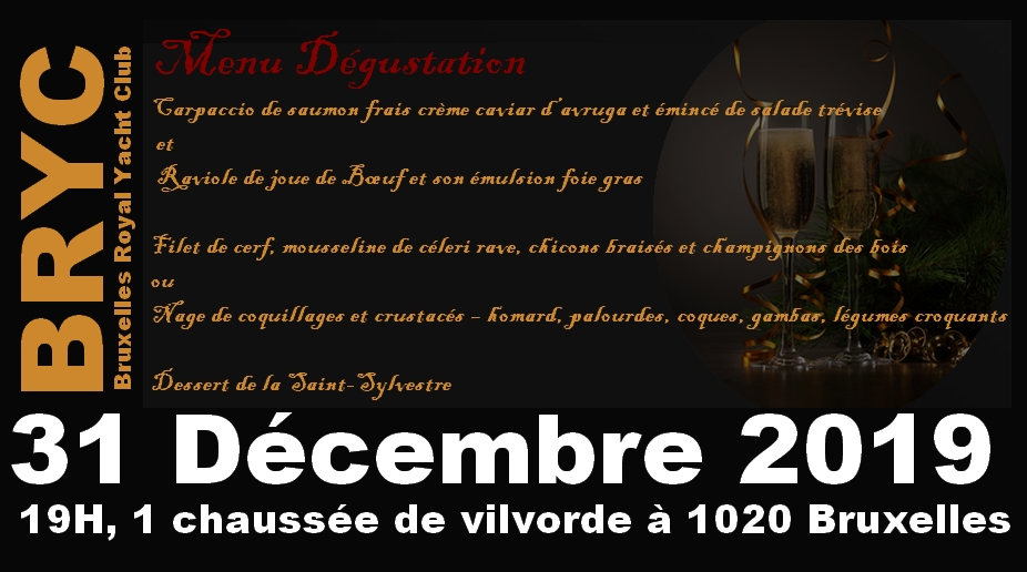 BRYC-NewYear-menu Bruxelles Royal Yacht Club - Happy New Year 2020 !
