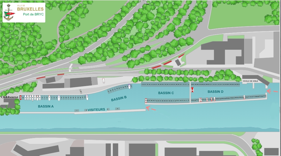 BRYC-Plan-Port-2019 Bruxelles Royal Yacht Club -  Infrastructure